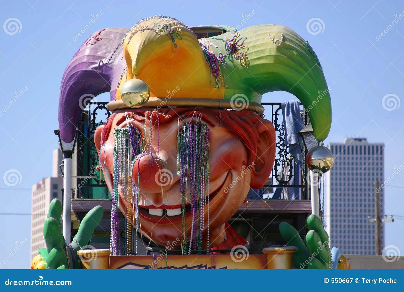 Close up do flutuador do carnaval