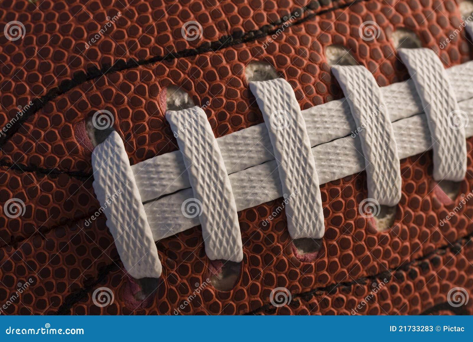 Close up do futebol americano