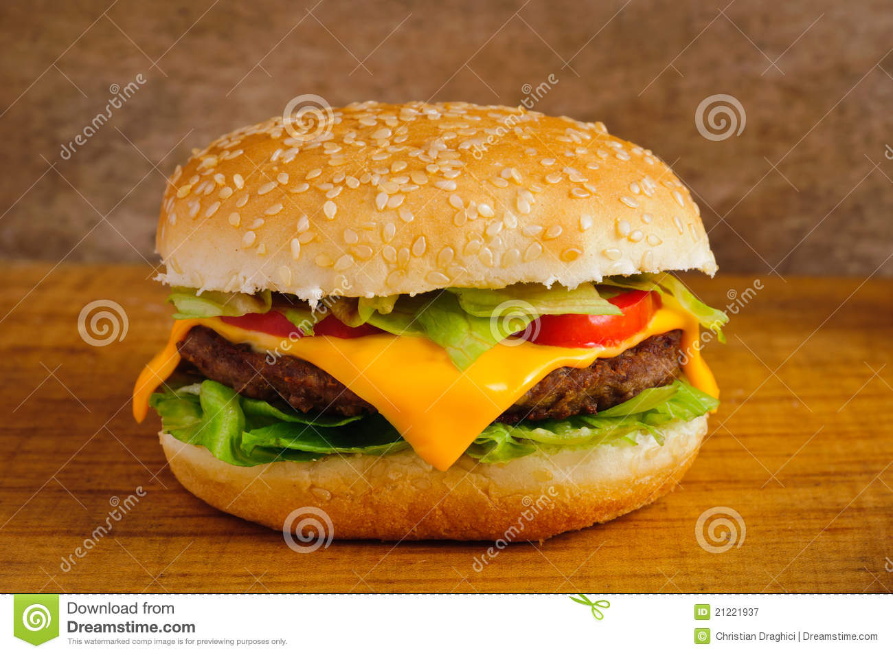 Close up do Hamburger