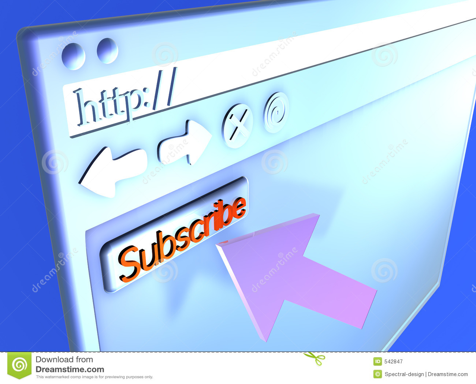 Close up do navegador - subscreva