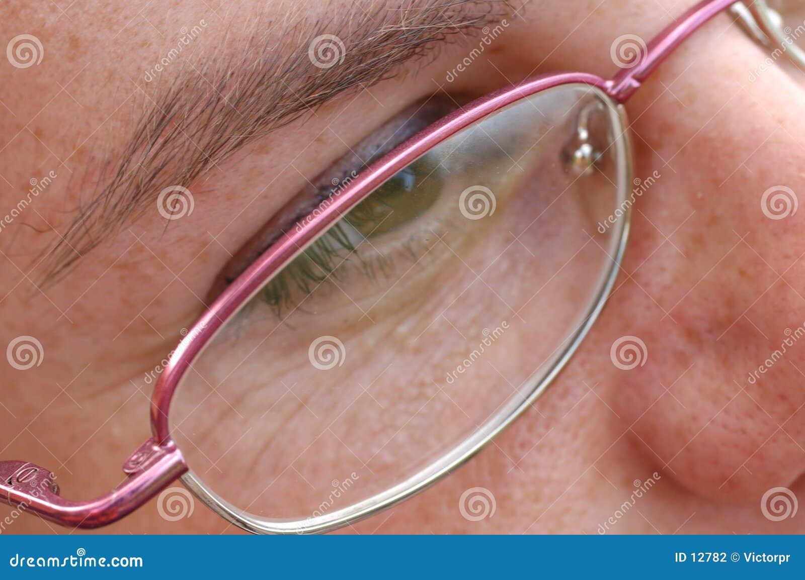 Close-up do olho