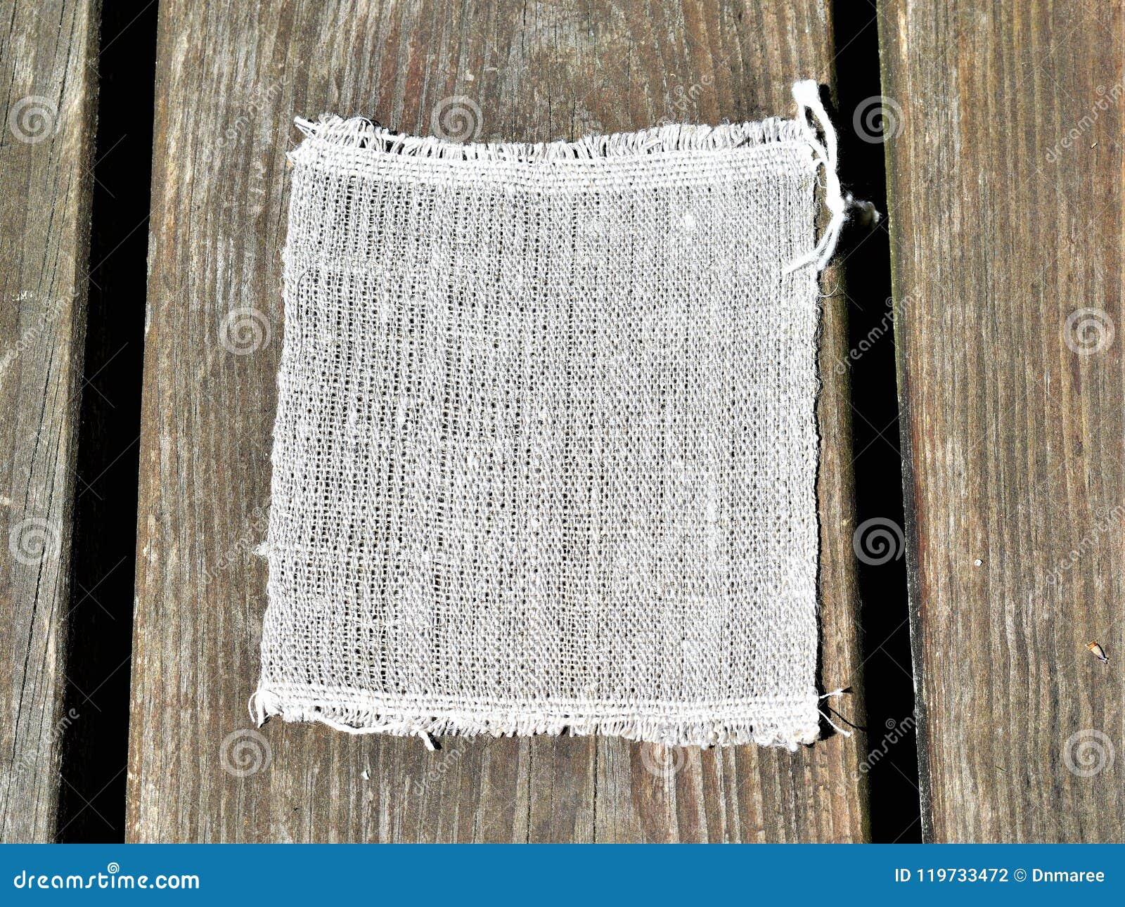 Close up do pano de linho mão-girado handwoven textiles