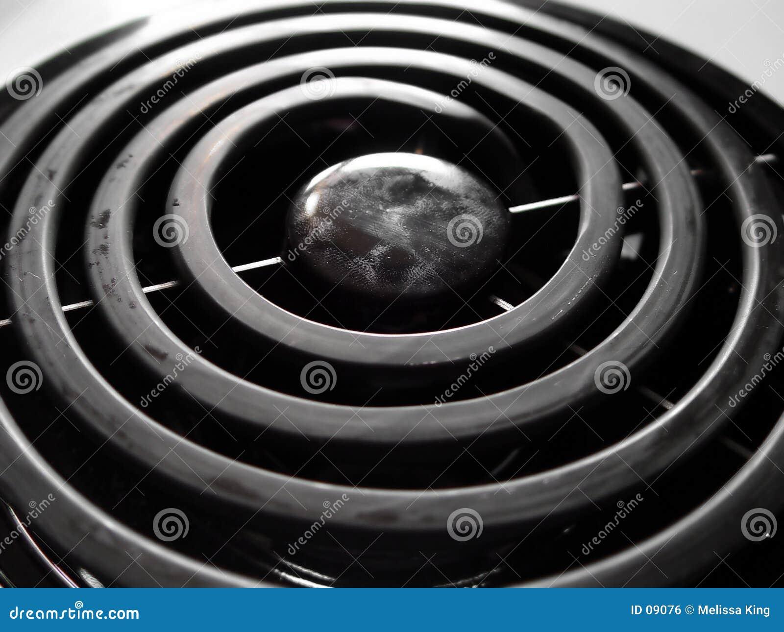 Close up do queimador do fogão