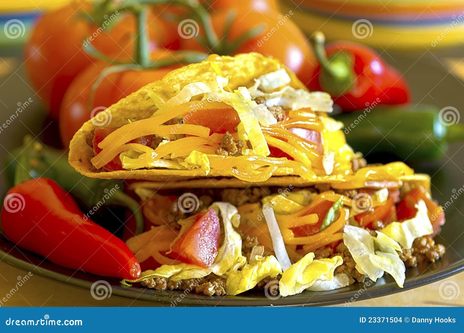 Close up do Tacos