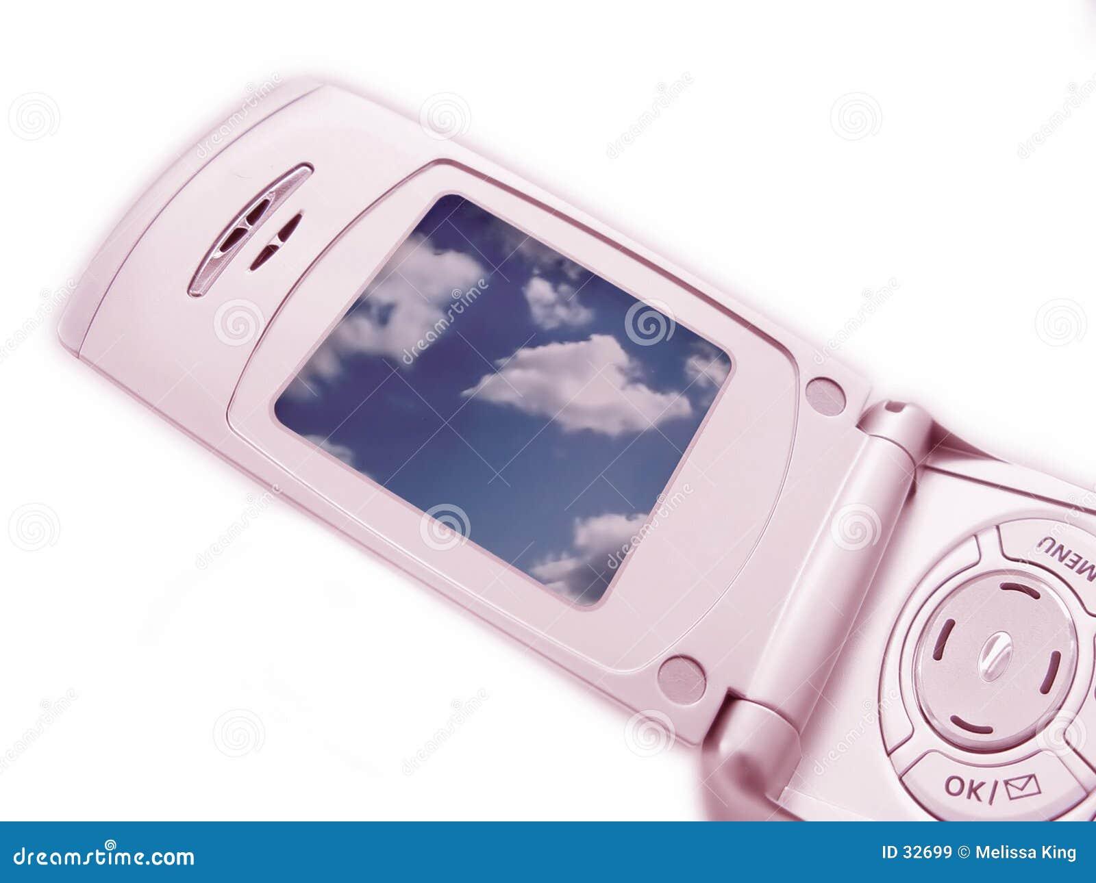 Close up do telefone da câmera - cor-de-rosa