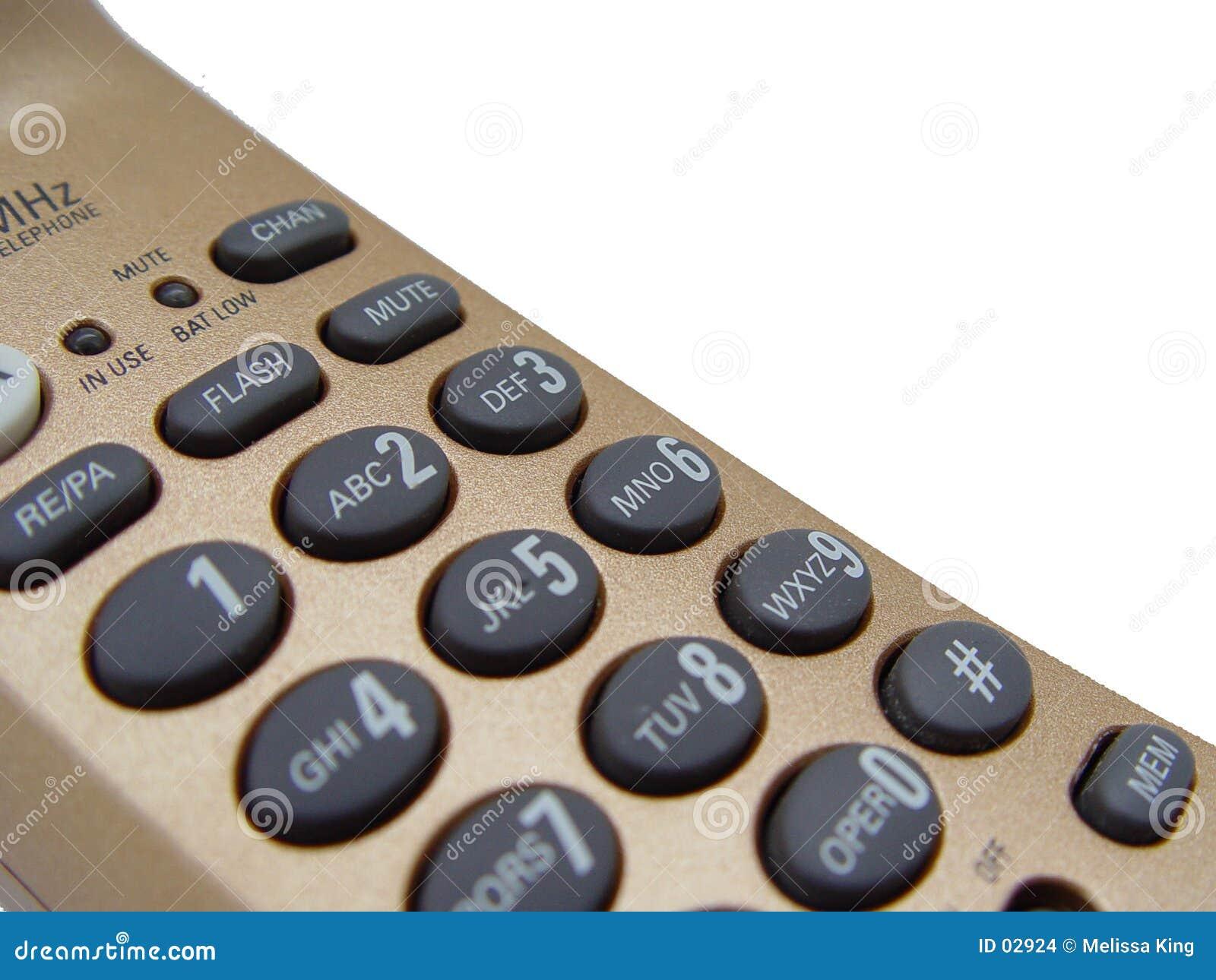 Close up do telefone do ouro