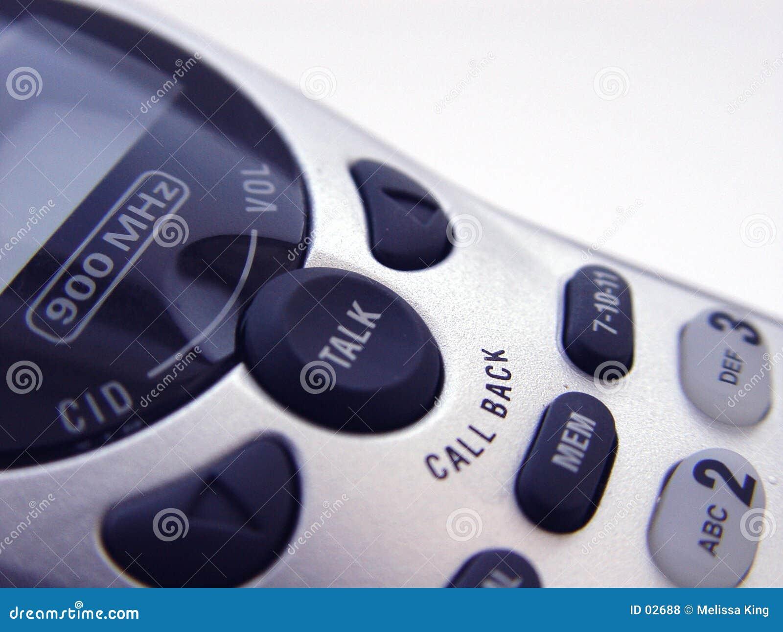 Close up do telefone sem corda