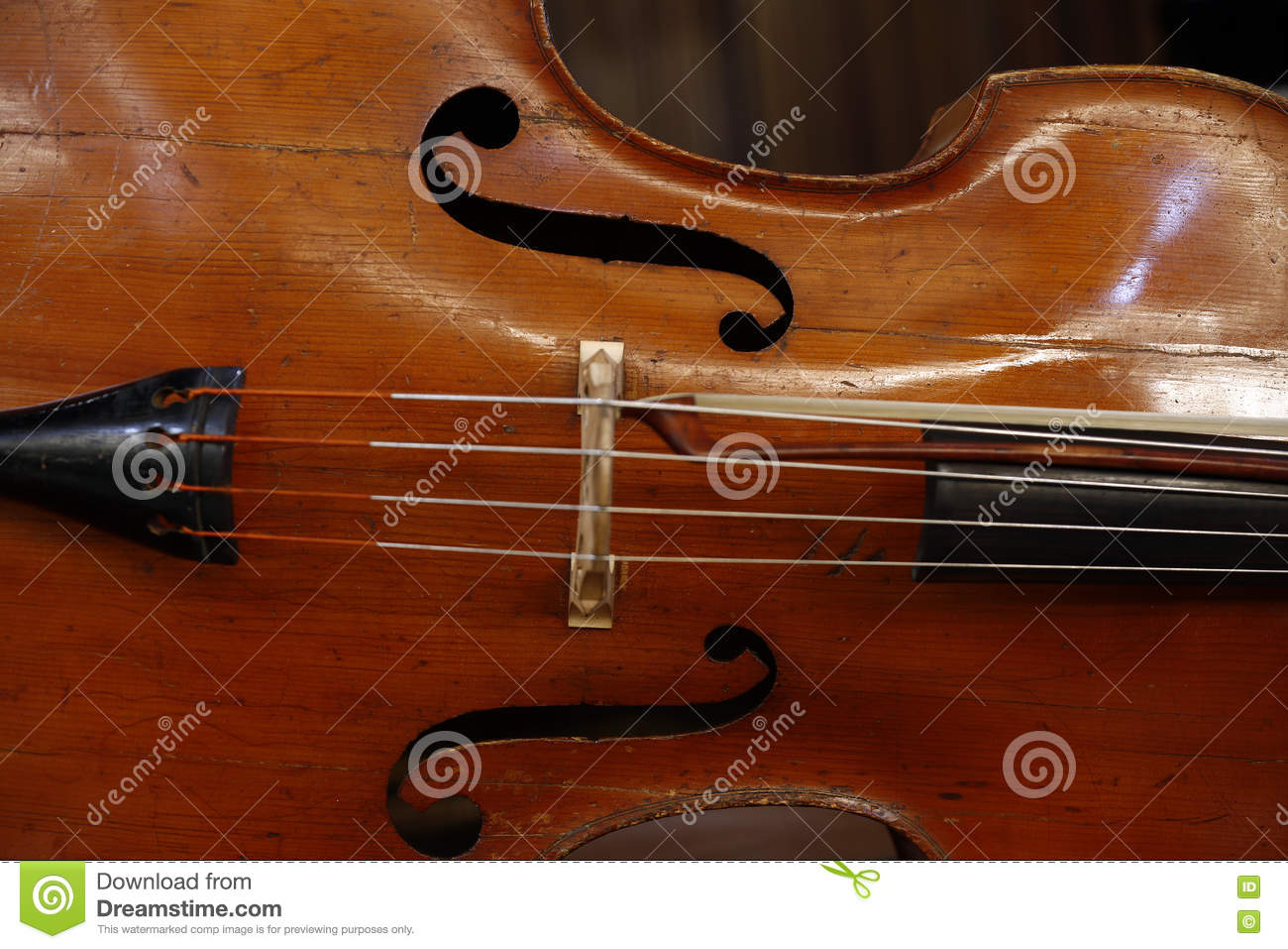 Close-up do violoncelo