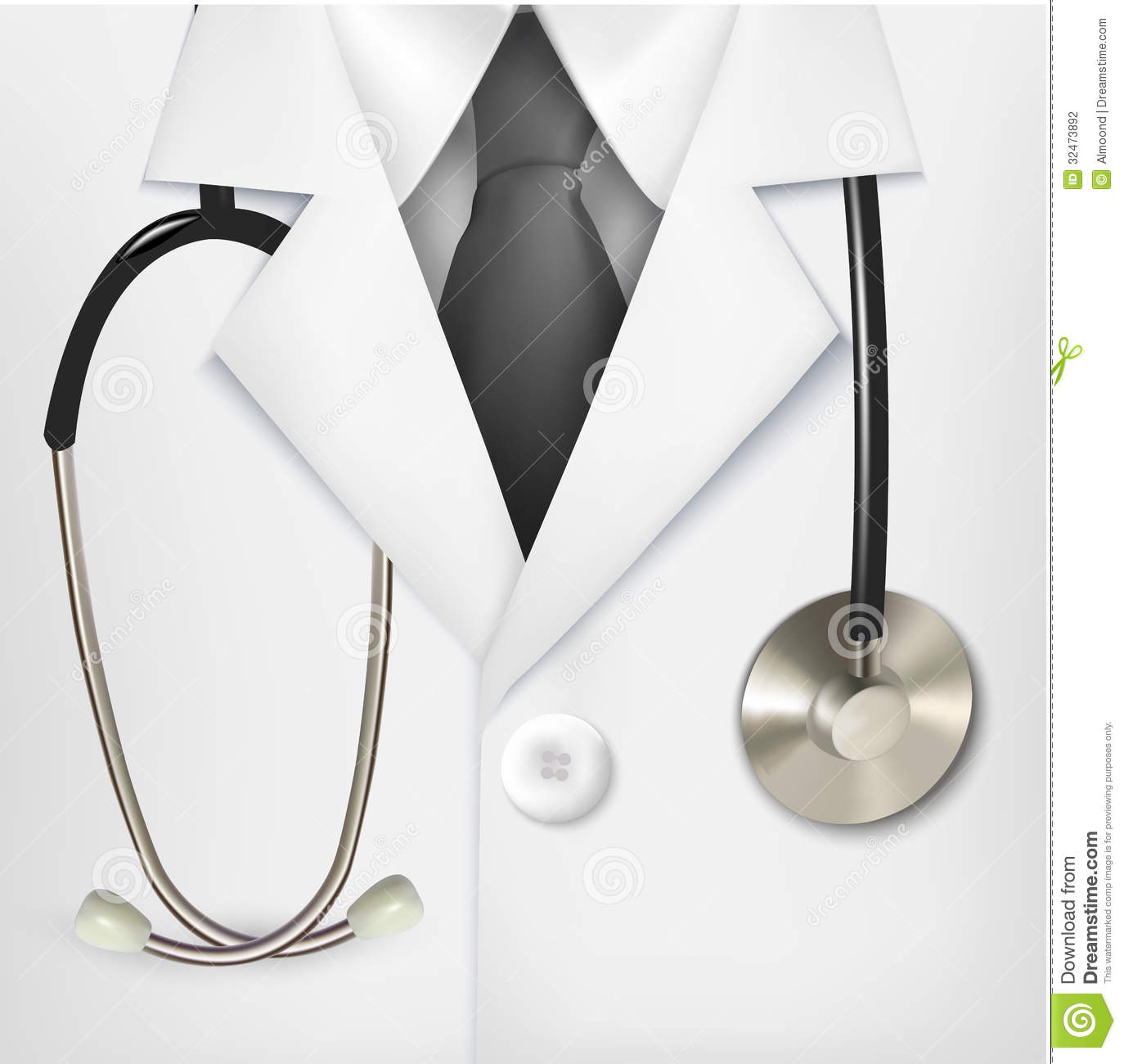 Medical Background With A Doctors Lab White Coat Royalty Free
