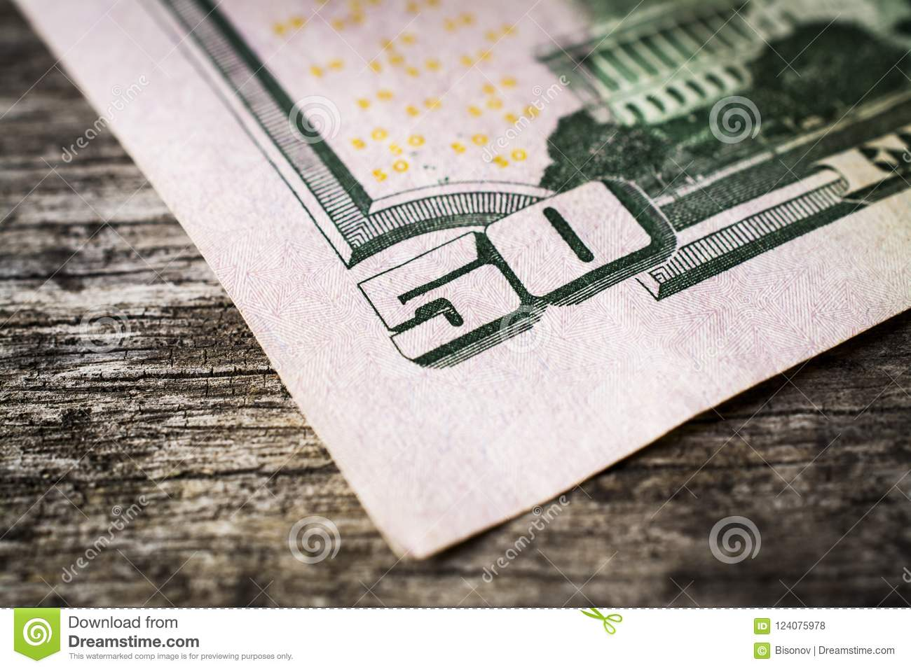 Close-up of 50 Dollar bill