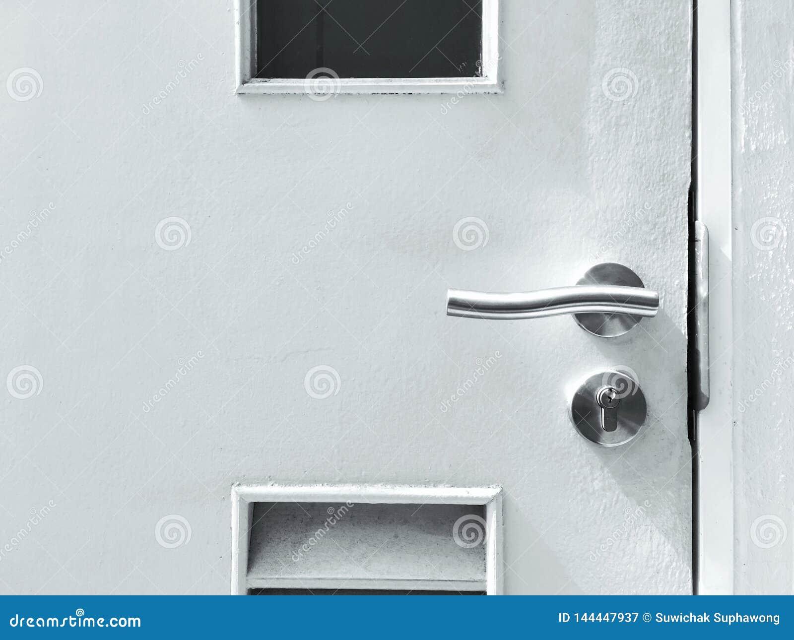 Close up of the door.