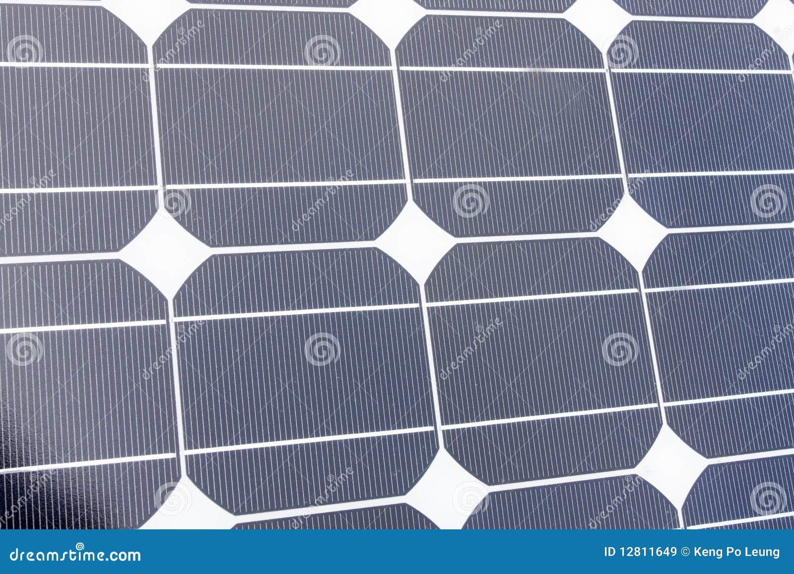 Close up dos painéis solares