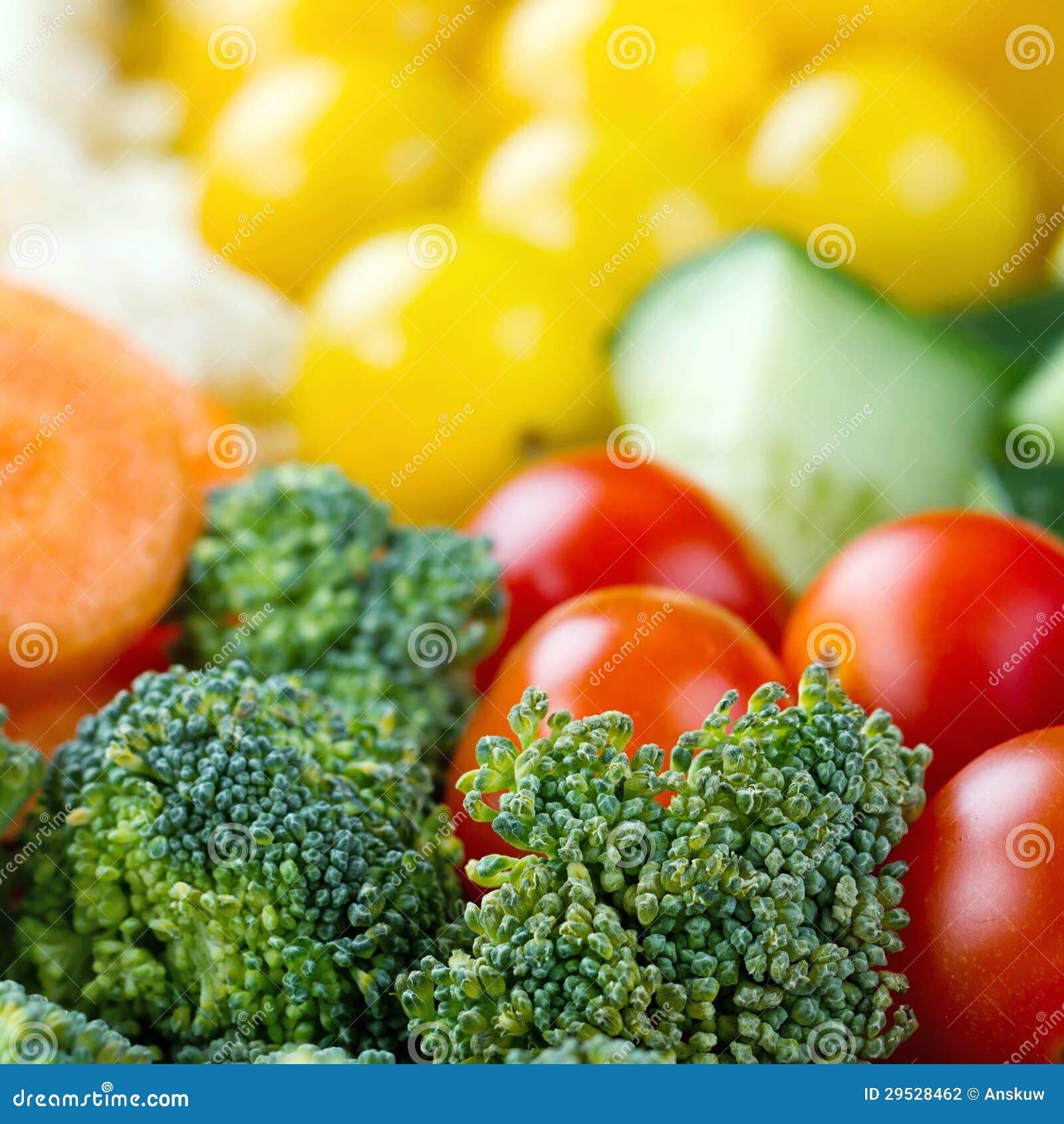 Close up dos vegetais