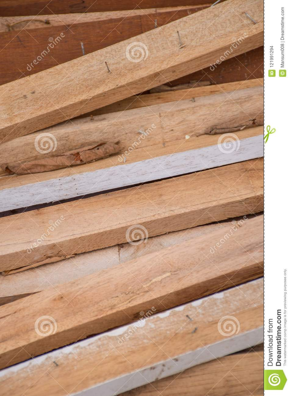 Dry plywood on the ground