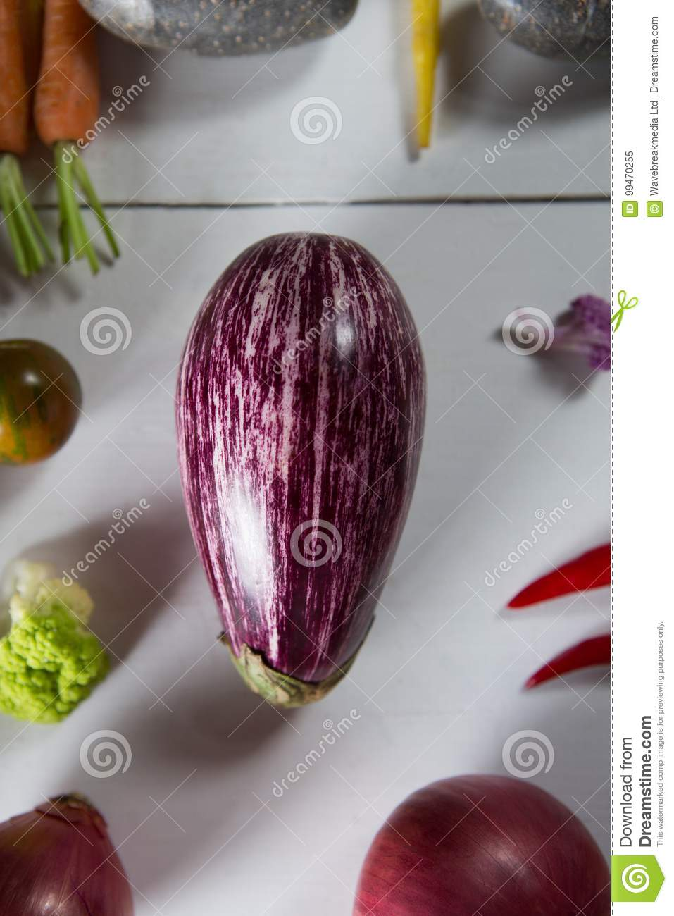 a3a6cdc06e73 Close-up Of Eggplant With Olive And Carrots Stock Image - Image of ...