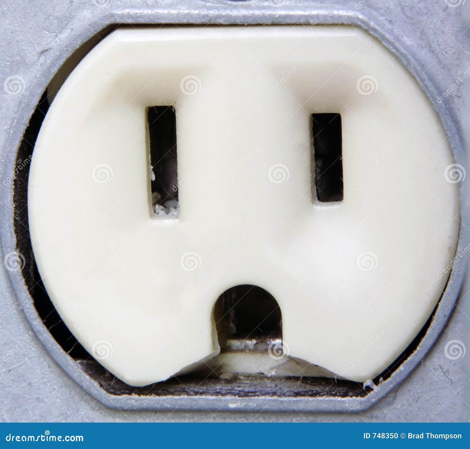 Close up elétrico do extremo da tomada