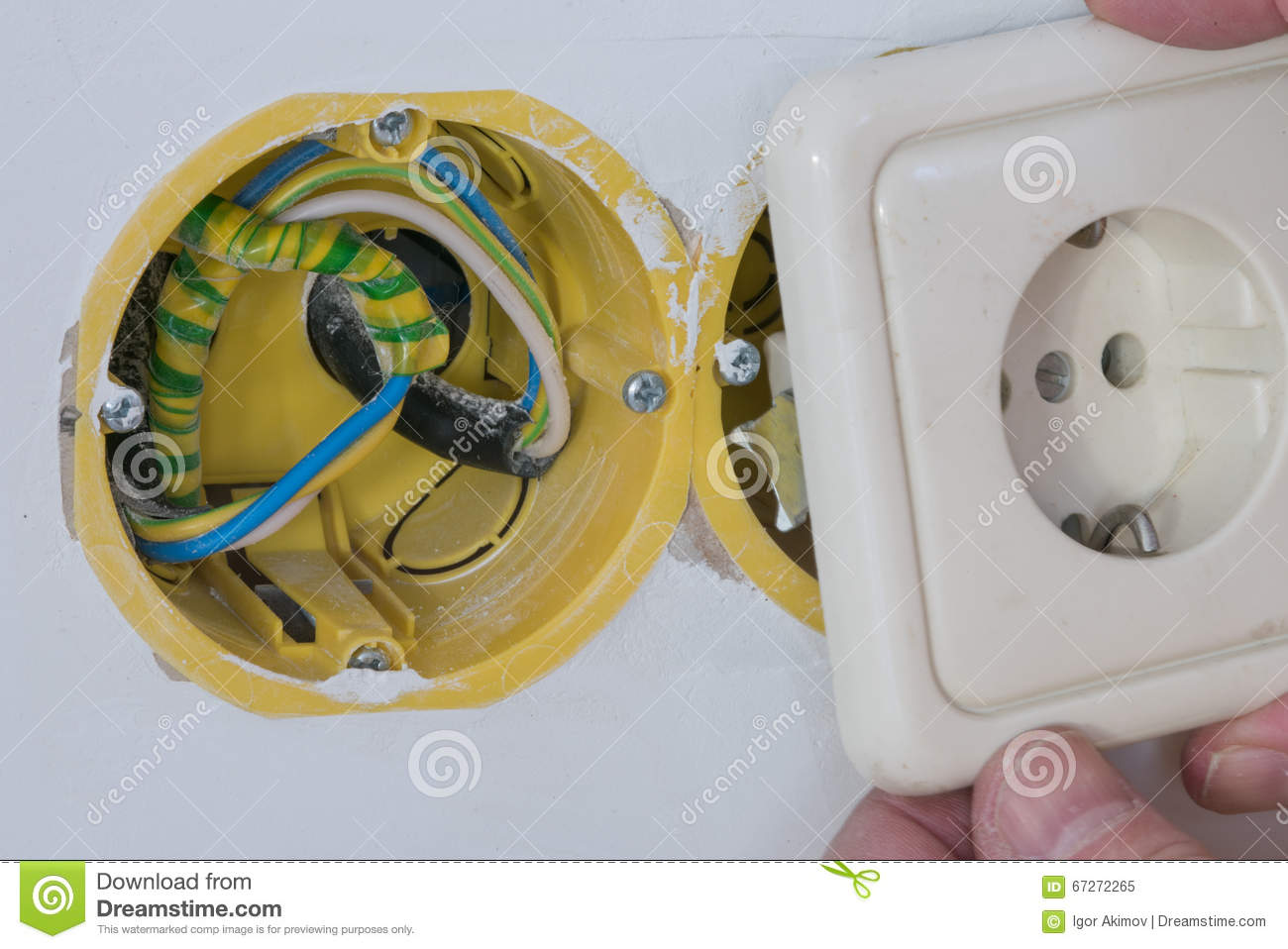 Close Up Electrical Distribution System Installation In New Buil How To Wire And Install An Outlet A Home Wiring