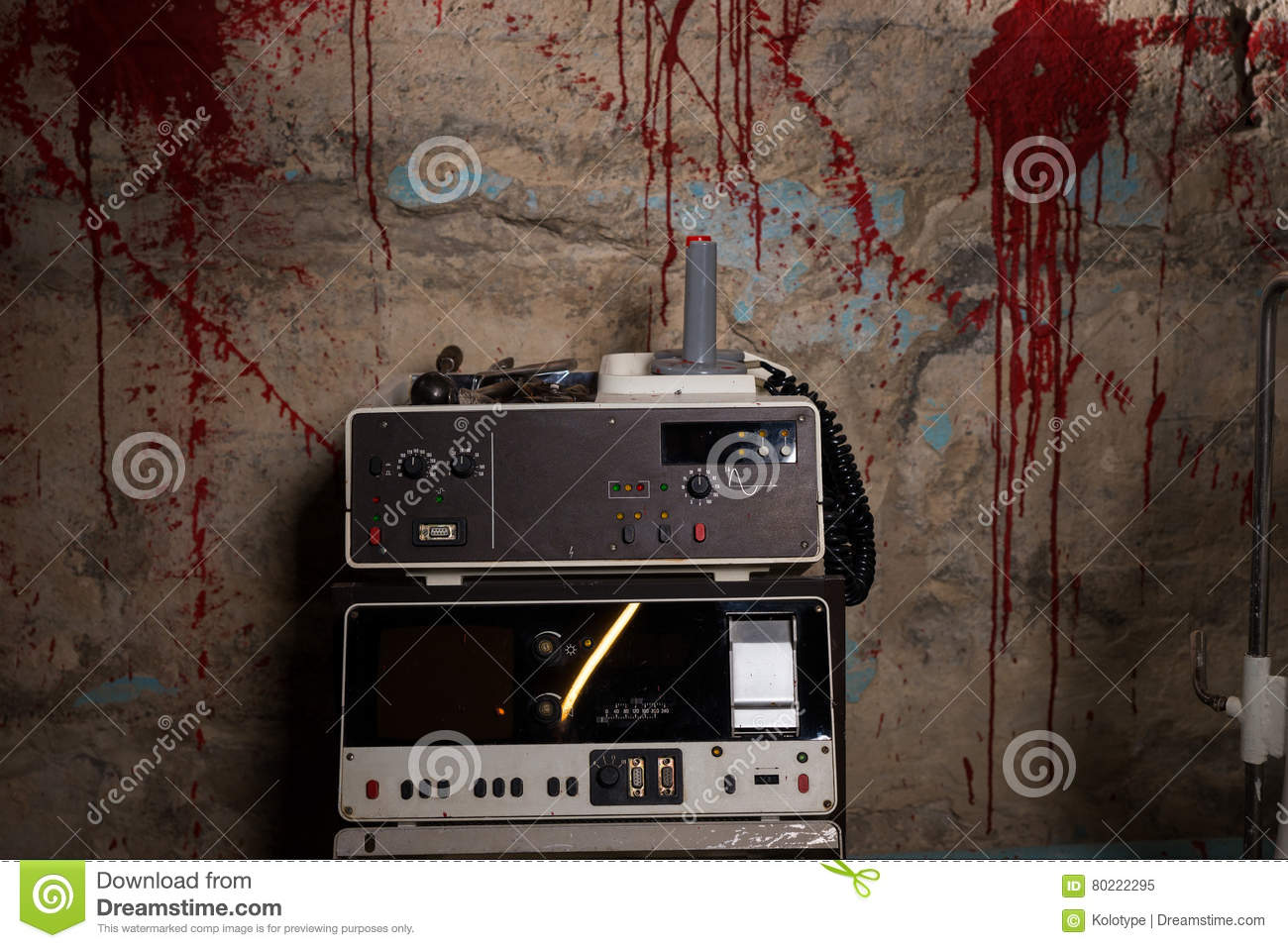close up of electrical shocking device with blood stained wall stock rh dreamstime com Electrical Circuit Breakers Complete Electrical Circuit