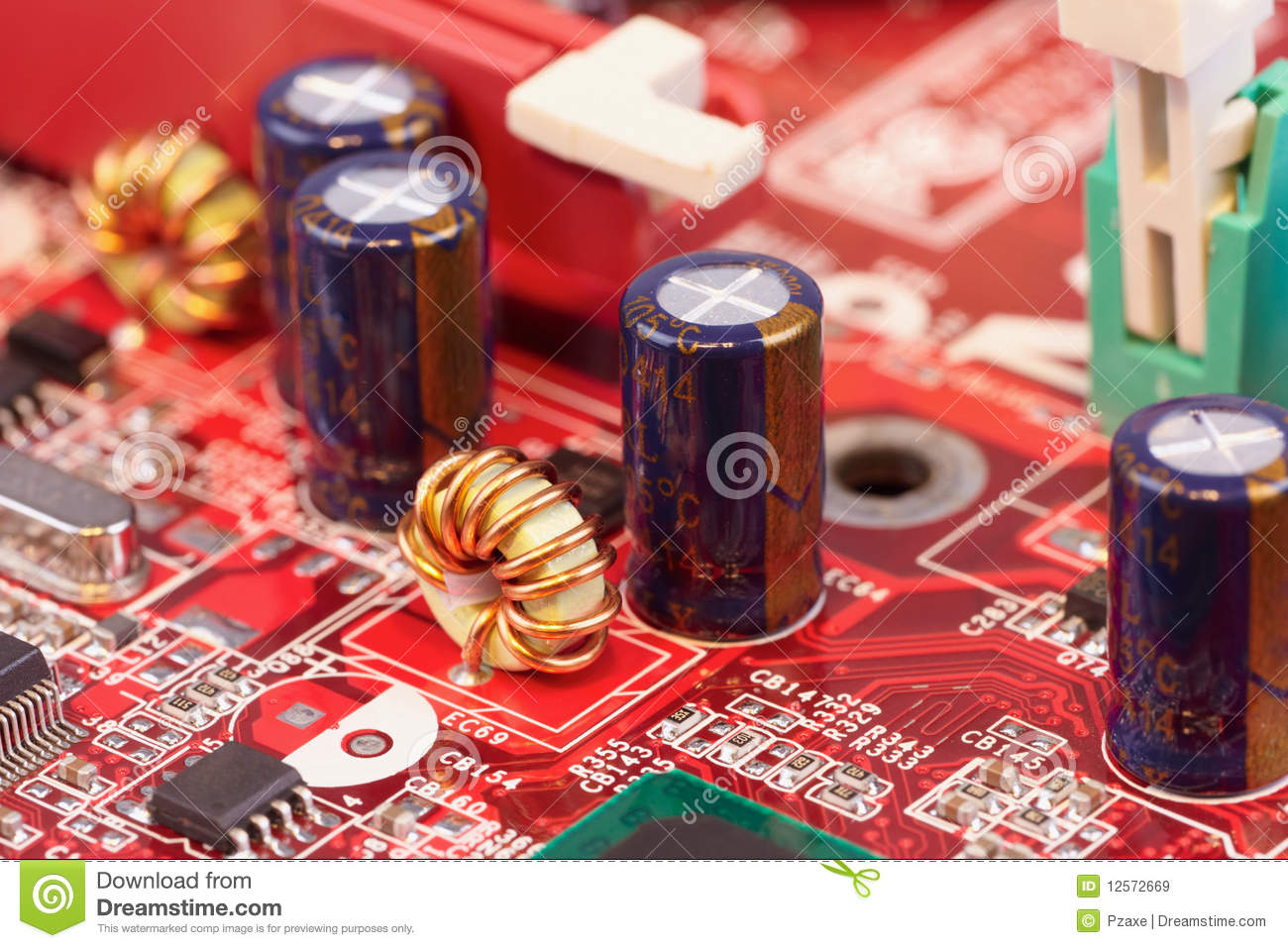 close up of electronic circuits in technology on mainboard Identify Electronic Components Circuit Board Electronic Circuit Laser Tripwire