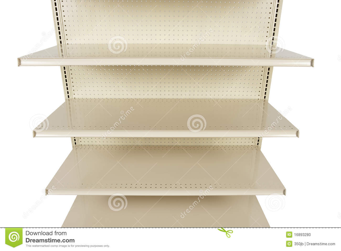 close up of empty retail store shelf stock photo image of supermarket store 16893280. Black Bedroom Furniture Sets. Home Design Ideas