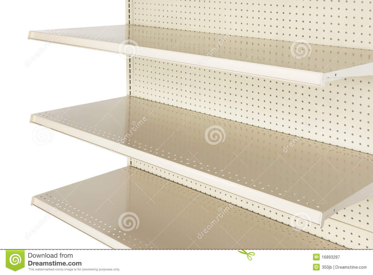 close up of empty retail store shelf stock image image of market blank 16893287. Black Bedroom Furniture Sets. Home Design Ideas
