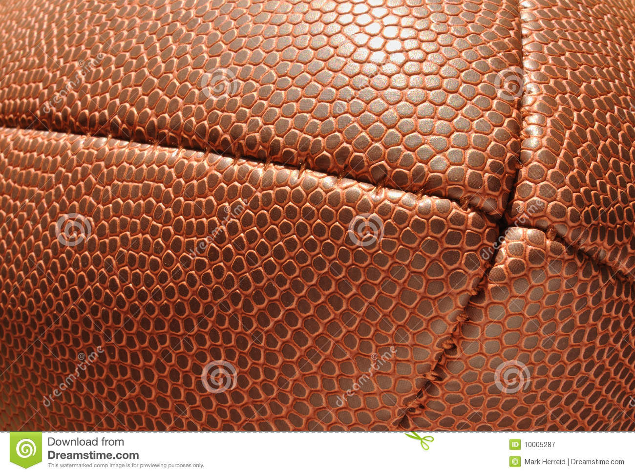 close-up  end of football showing texture royalty free stock photography