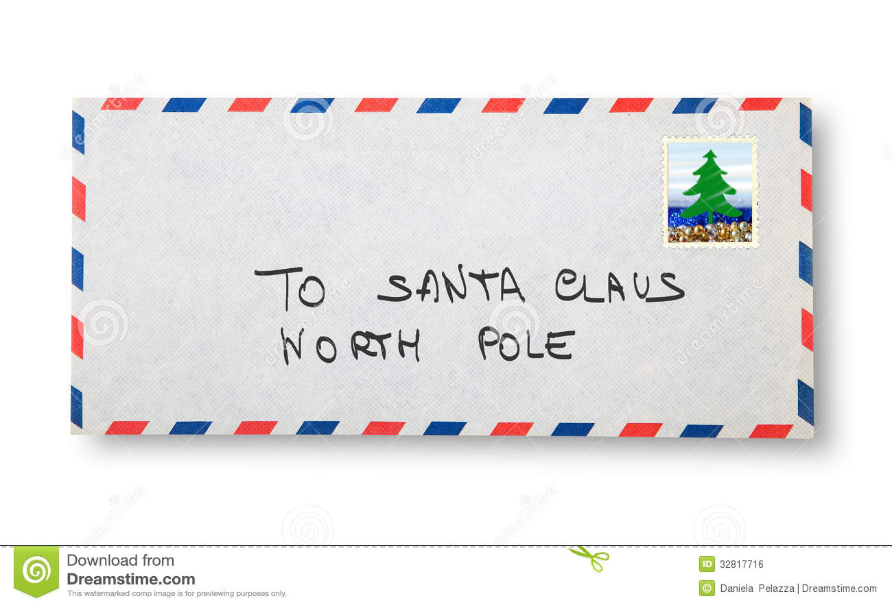 Close-up Of Envelope (To Santa Claus) Royalty Free Stock Image - Image ...