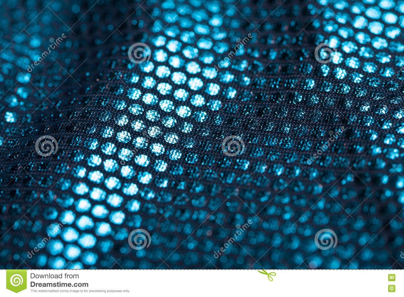 Close-up fabric. covered with reflective dots that give the image its glitter.