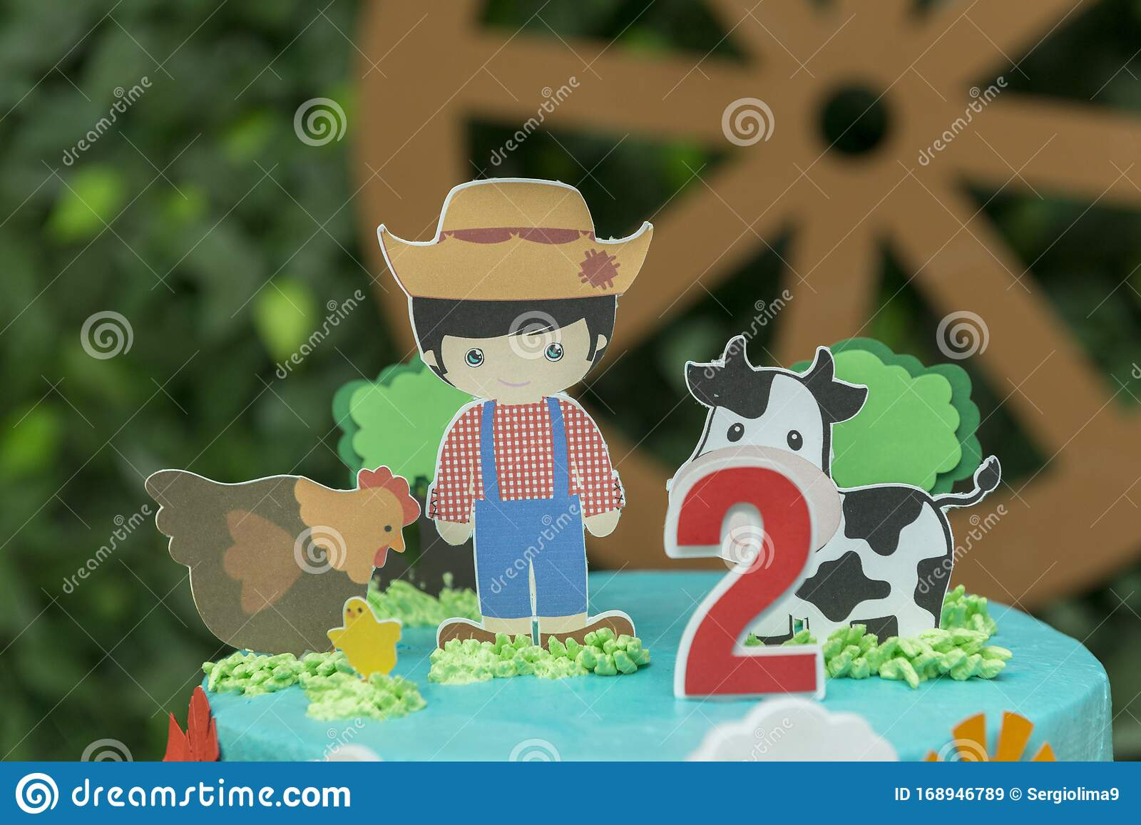 Enjoyable Close Up Of Farm Theme Boy Birthday Cake Beautiful Decorated Cake Funny Birthday Cards Online Overcheapnameinfo