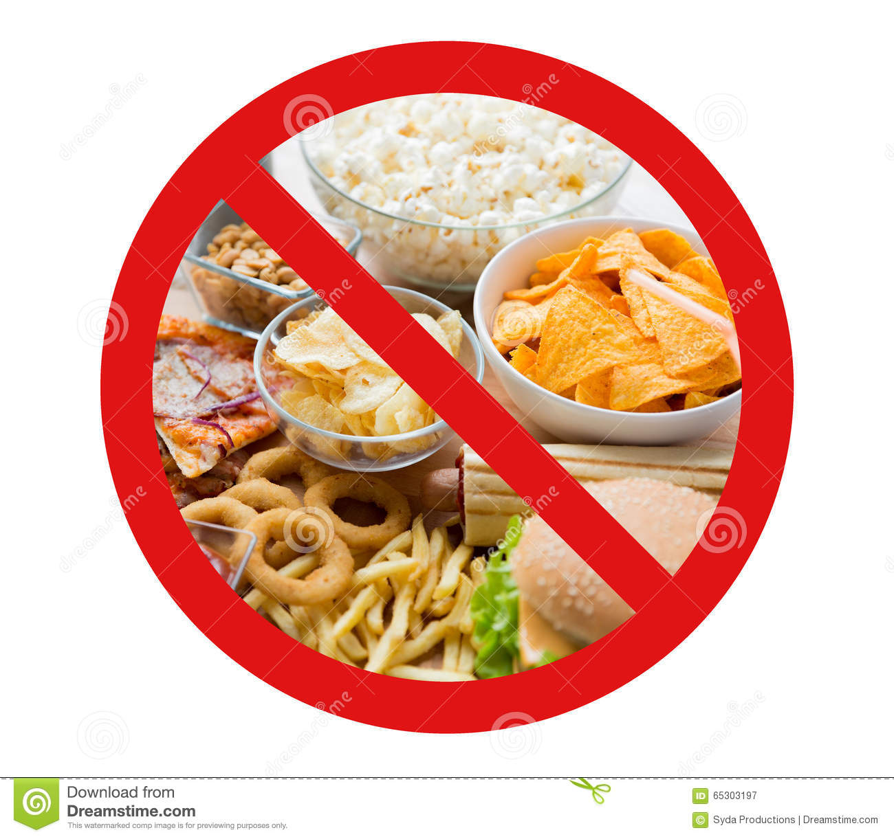 No Fast Food Vector Illustration | CartoonDealer.com #25128596