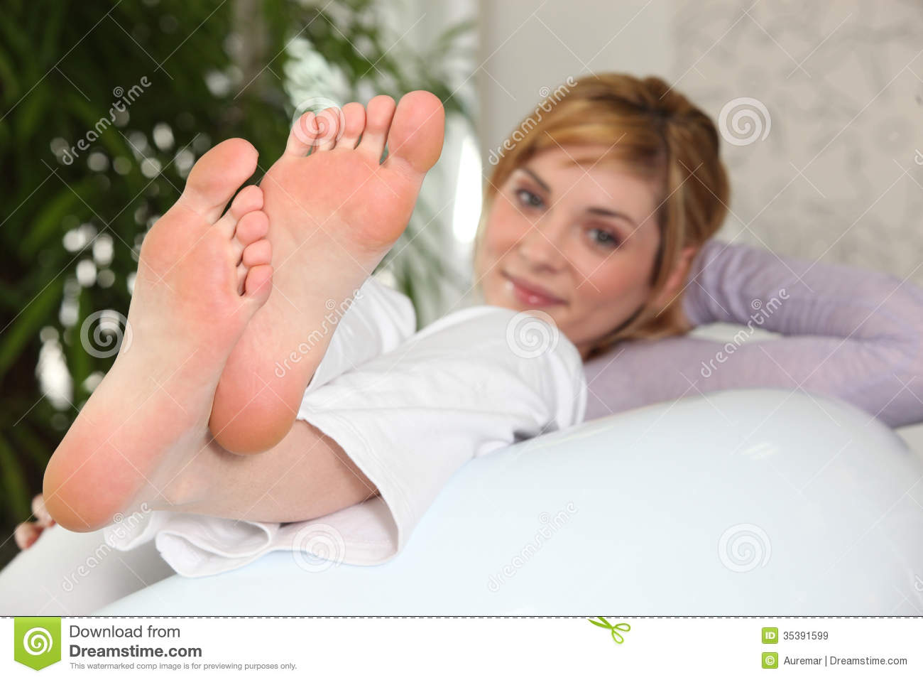 young feet Close up of female feet Royalty Free Stock Images