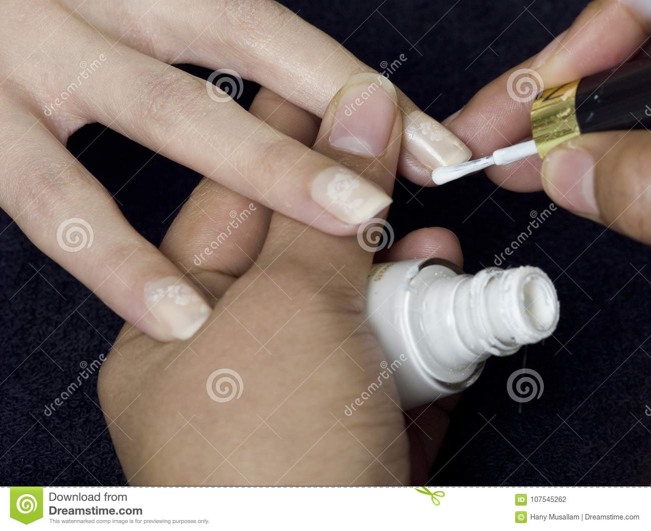 A Close Up Of Female Hands Doing Manicure Stock Photo - Image of ...