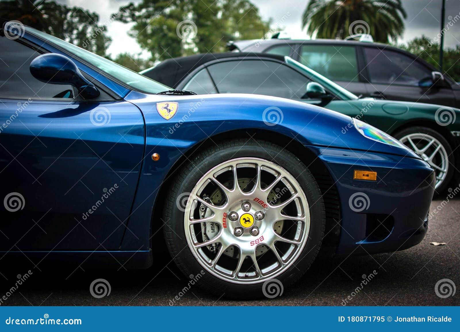 Side View Of A Blue Ferrari 360 Modena Editorial Image Image Of Dark Blue 180871795