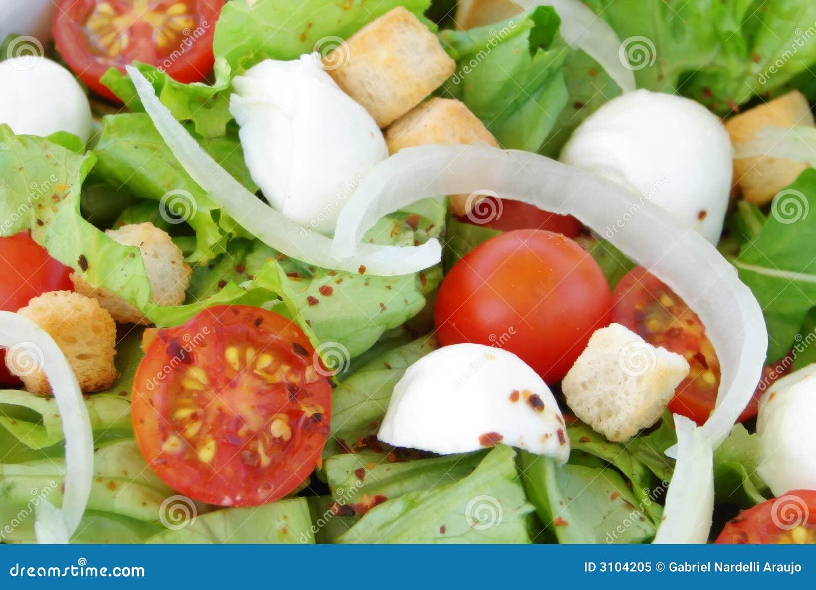 Close-up fresco da salada