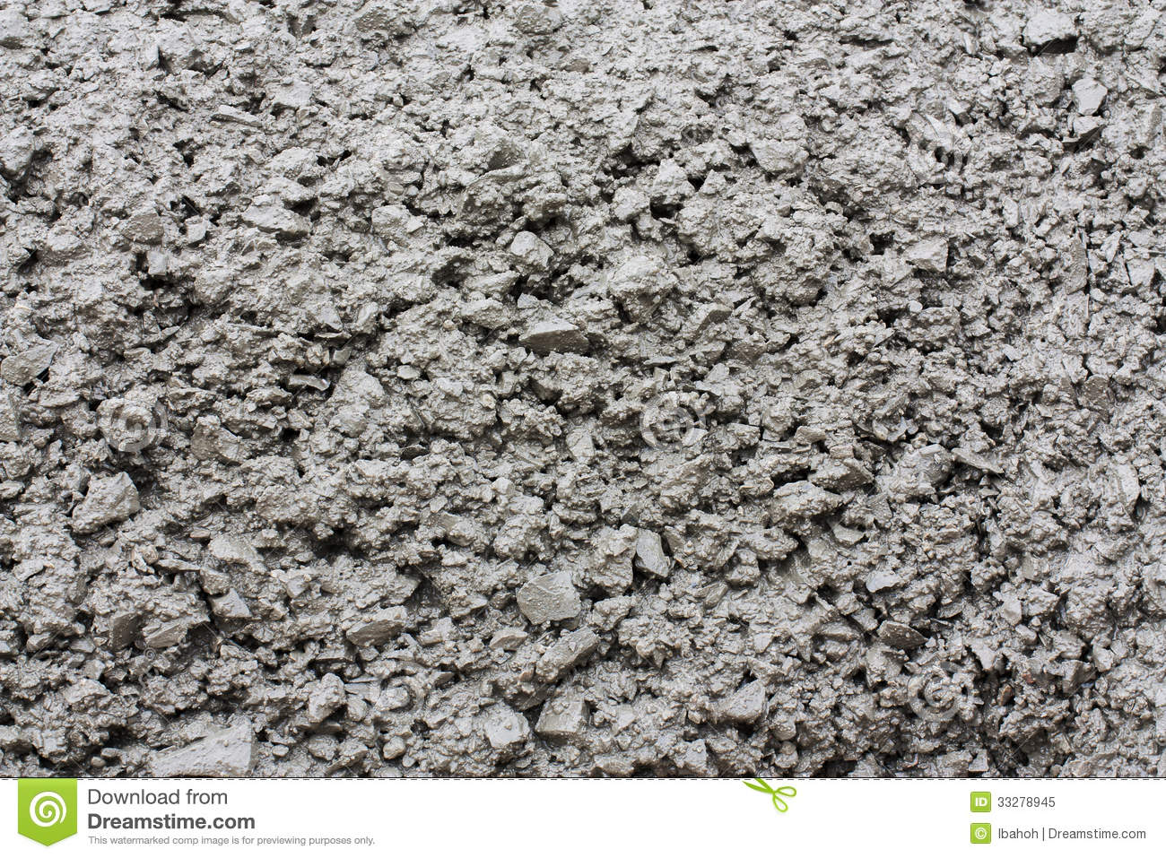 Close Up Of Fresh Concrete Royalty Free Stock Photo