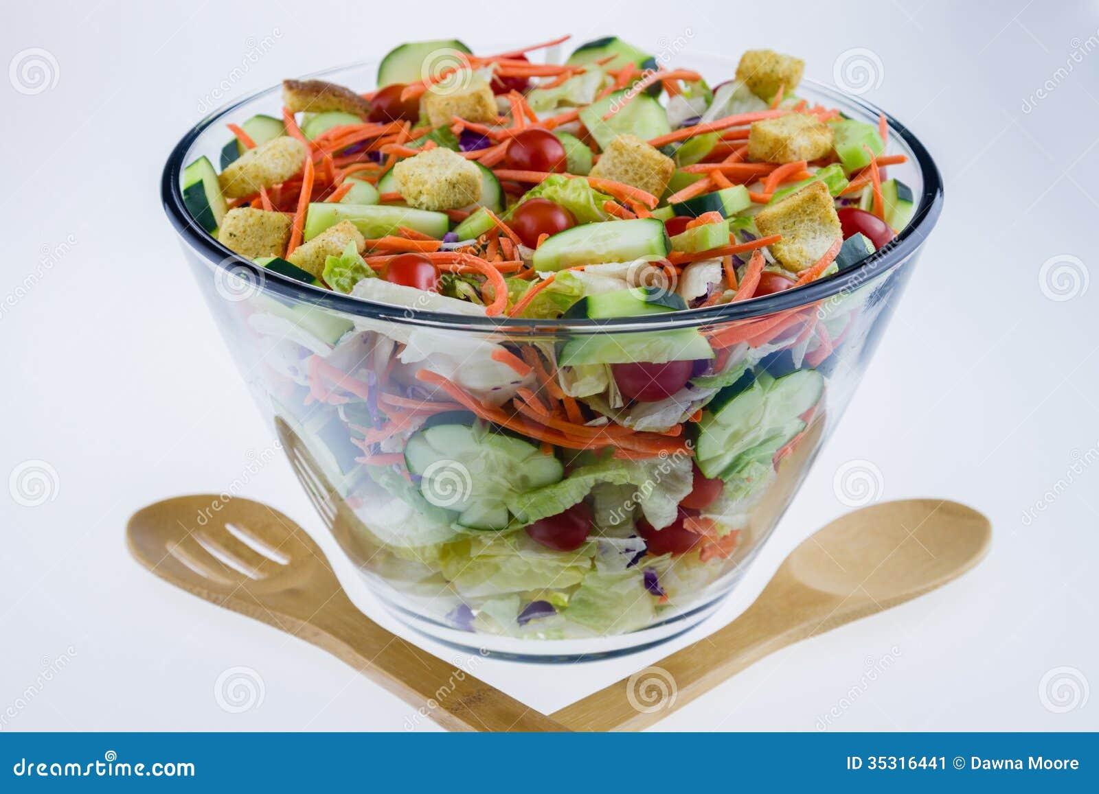 Close Up Of A Fresh Garden Salad Stock Image Image Of Leaf