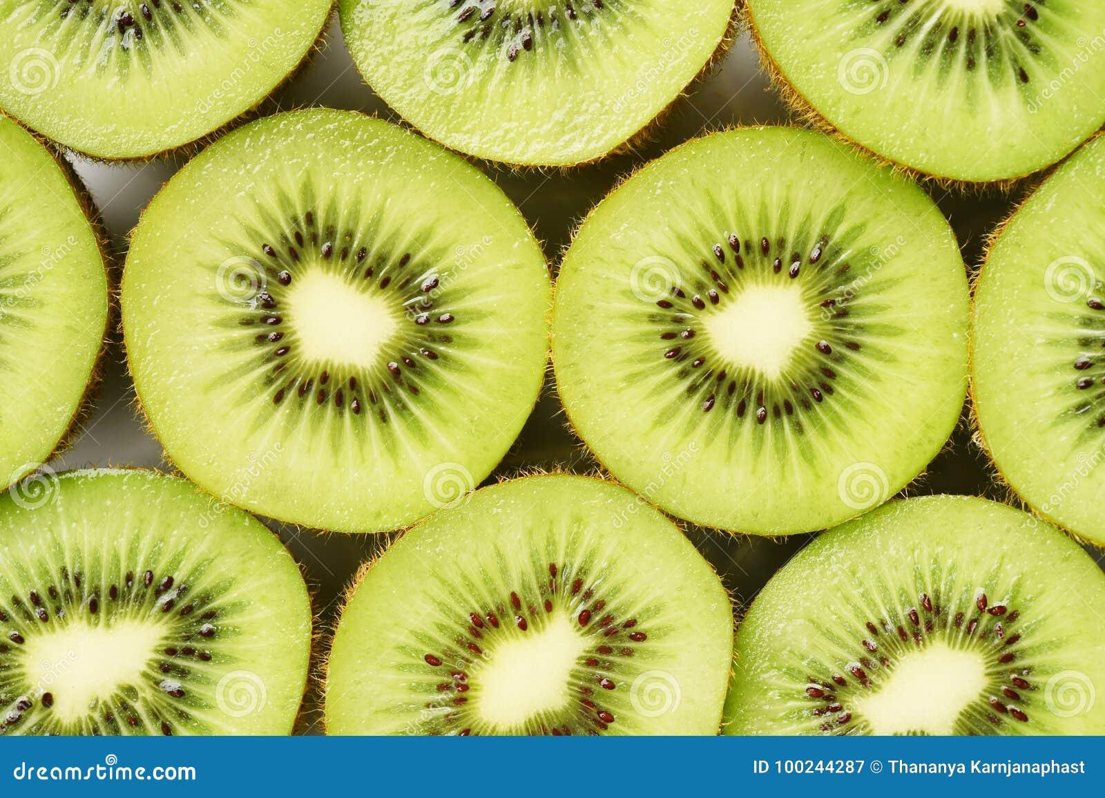 Close Up Of Fresh Kiwi Fruit Stock Image - Image of part ...