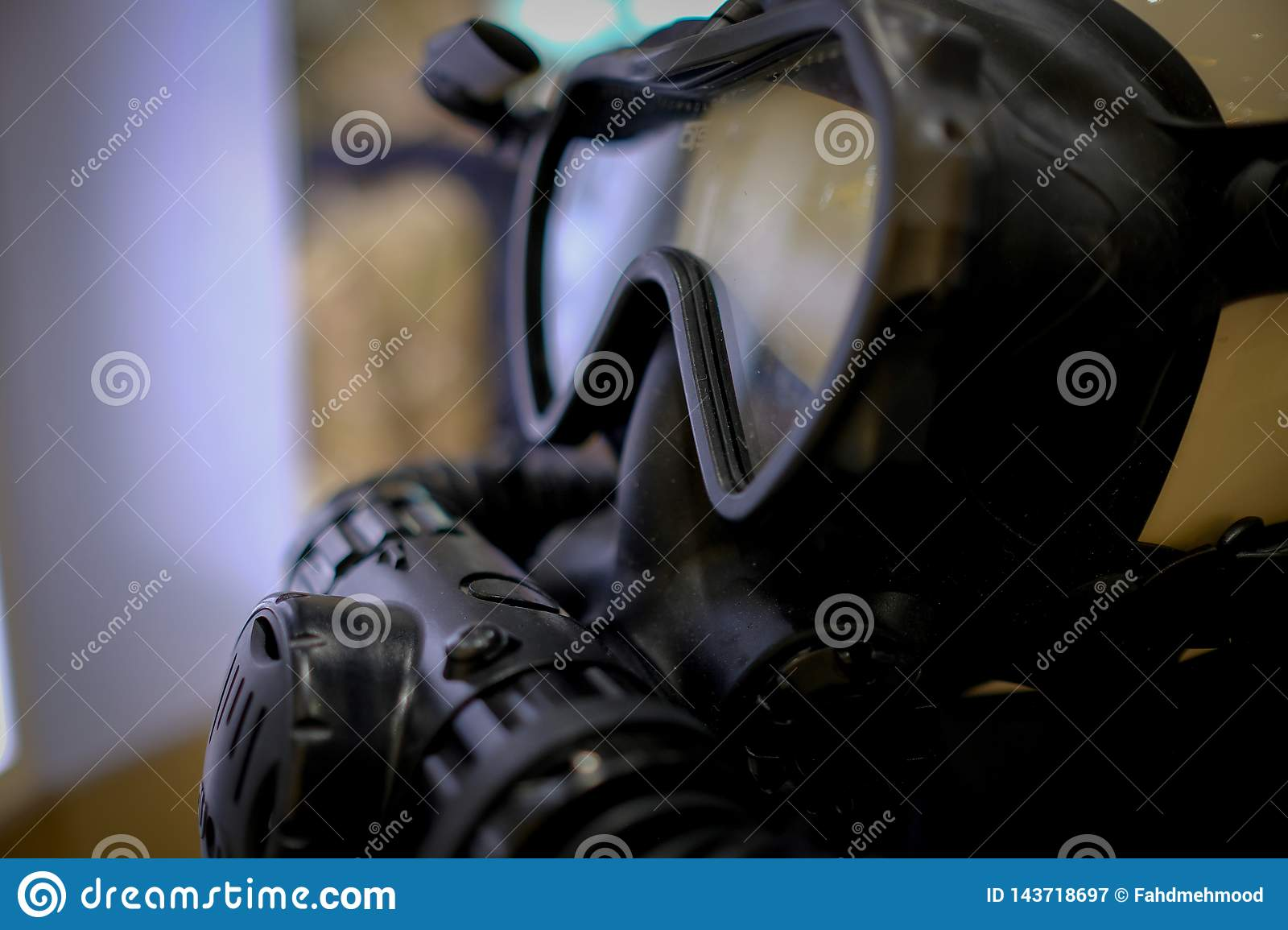 Close up of a Gas mask