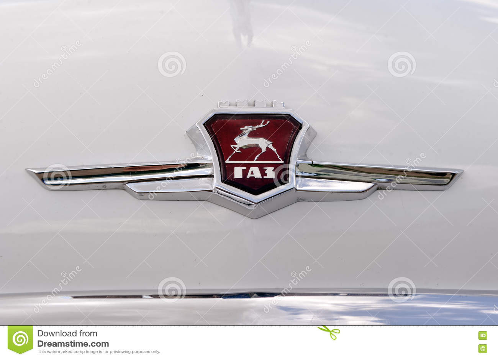 Close Up Of GAZ M21 Volga Vintage Car - Stock Image Editorial Stock ...