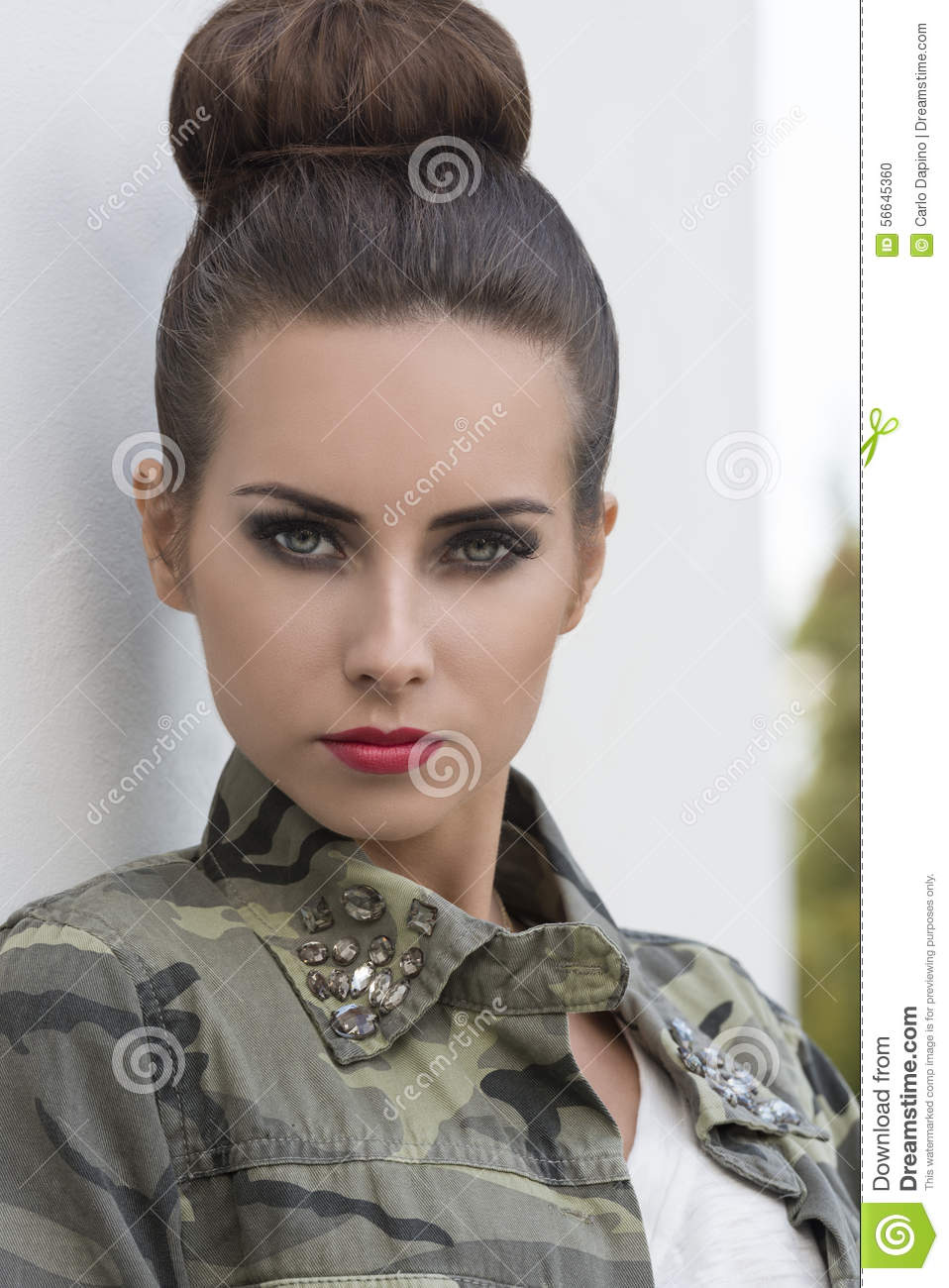 Close Up Of Girl With Urban Style Stock Photo Image
