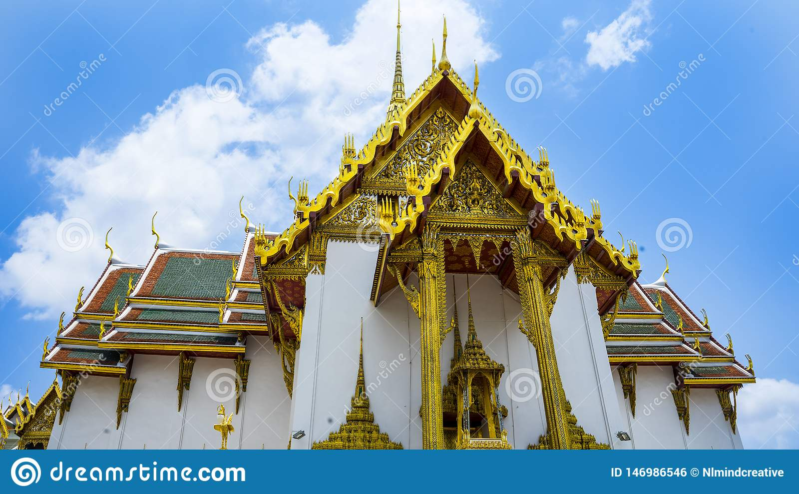 Close up of The Grand Palace in thailand