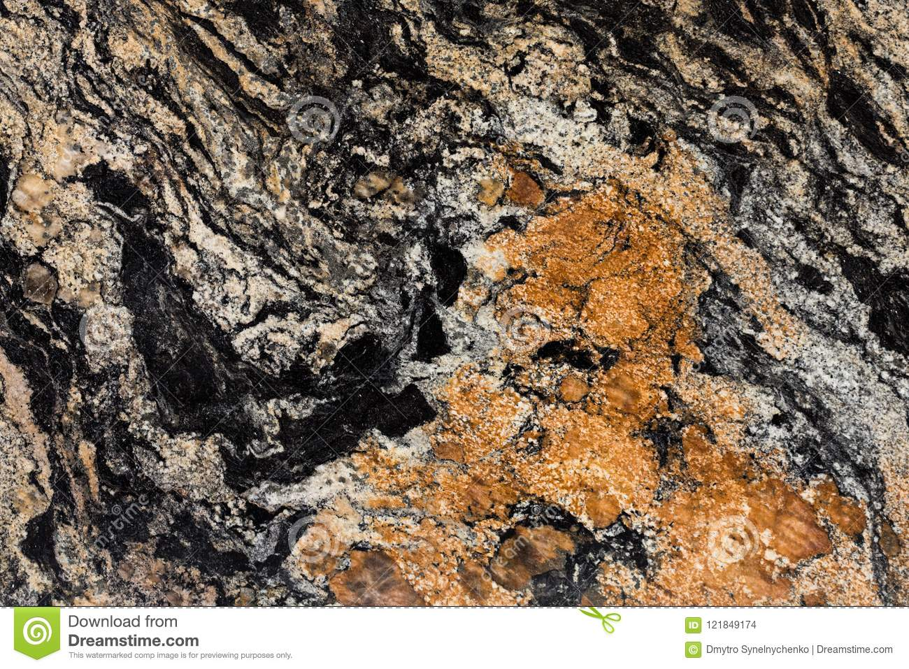 Close Up Of Granite Texture Black And Brown Color Precious Sto Stock Photo Image Of Natural Nature 121849174