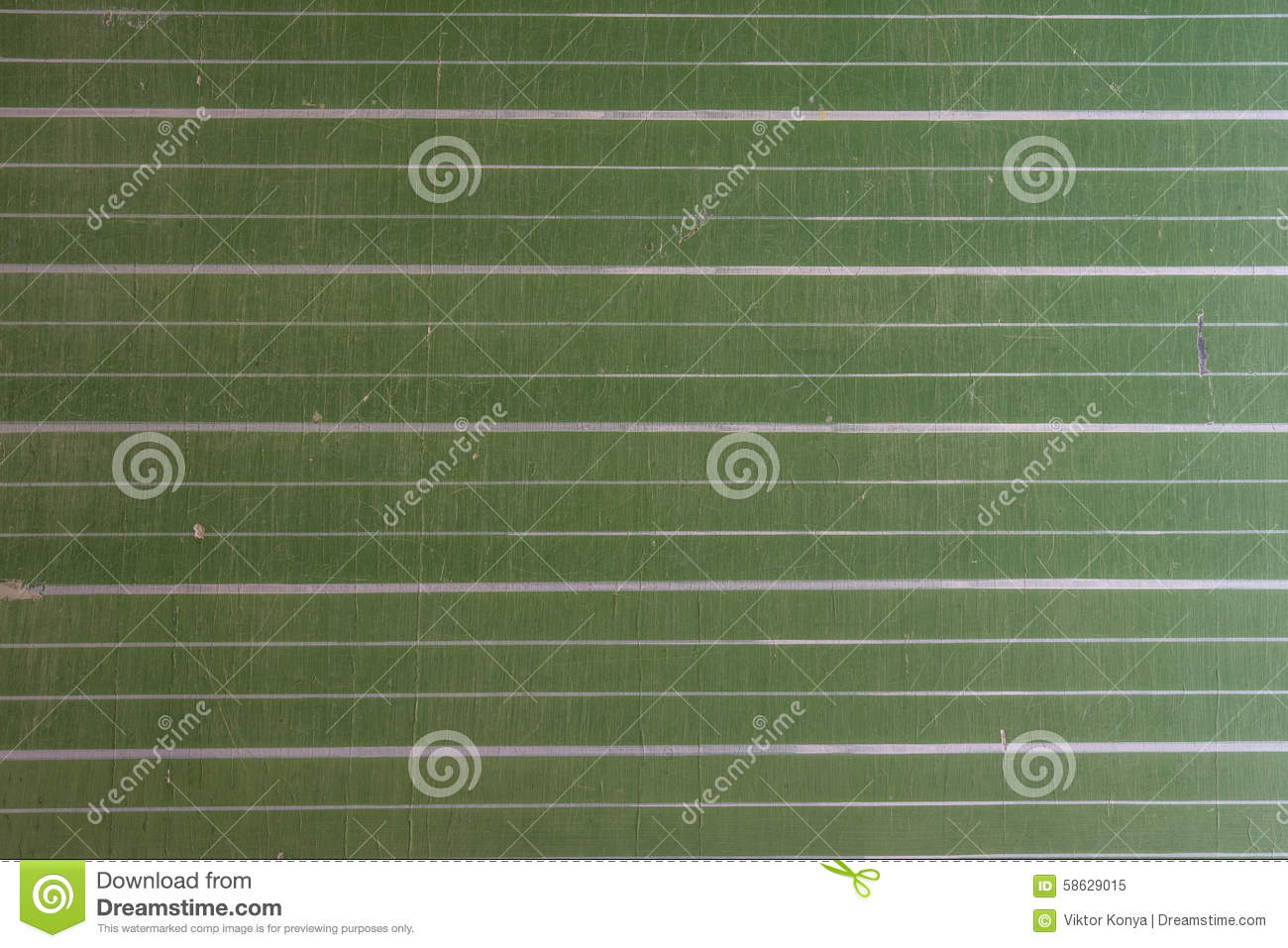 Close up of a green, striped chalkboard