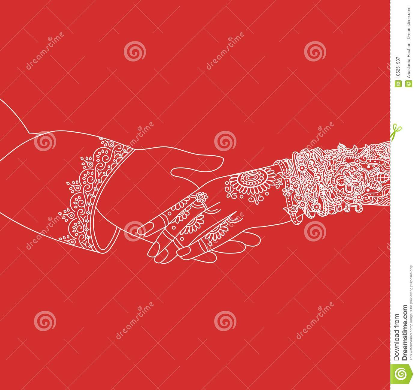 Wedding Indian Invitation Card Ceremony White Lines .India Marriage ...
