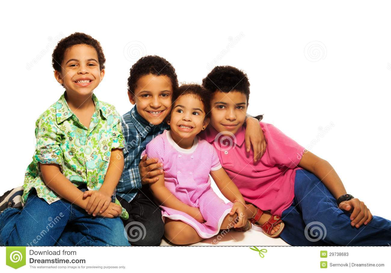 group of happy brothers and sisters stock image image of happiness