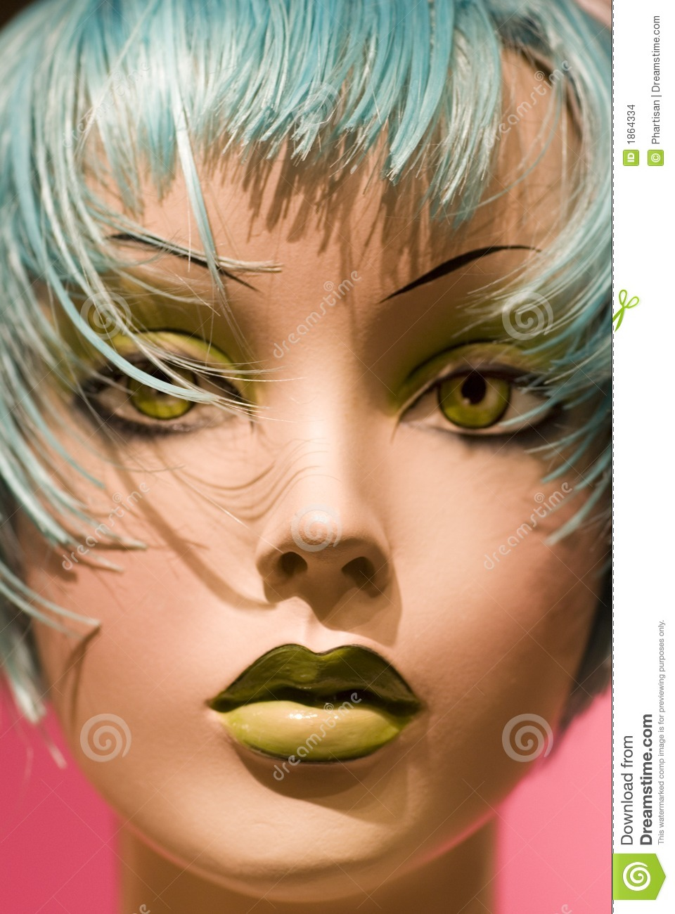 Close Up Of Hair Salon Style Dummy Stock Images Image 1864334