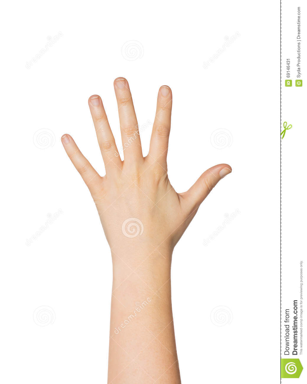 Close Up Of Hand Showing Five Fingers Stock Image - Image ...