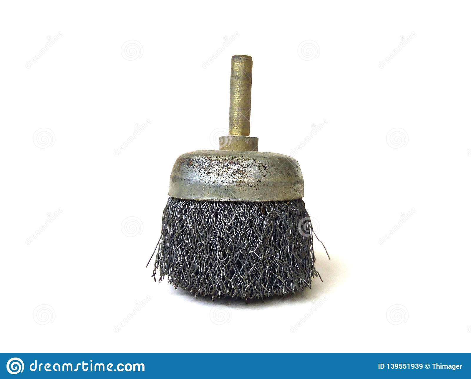 Metal wire brush for electric drill.