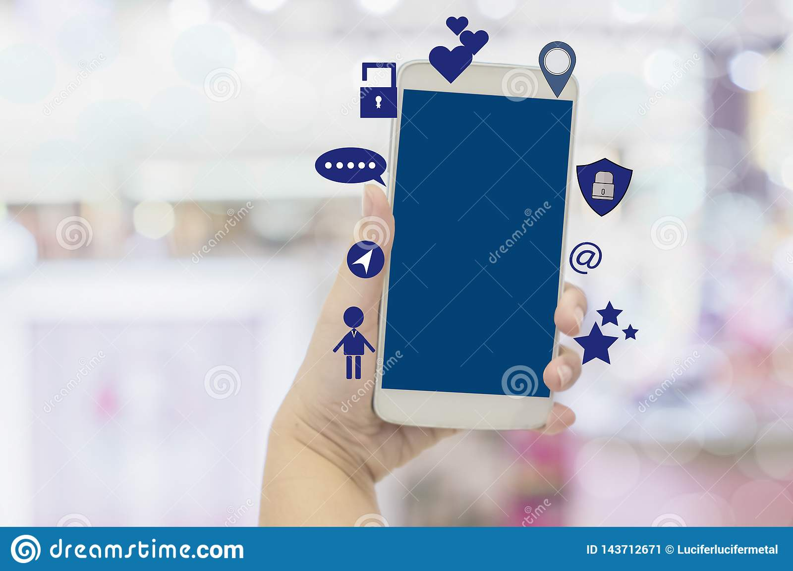 Close-up hands of businesswoman holding smartphones with using social media, concept lifestyle of modern society that people uses