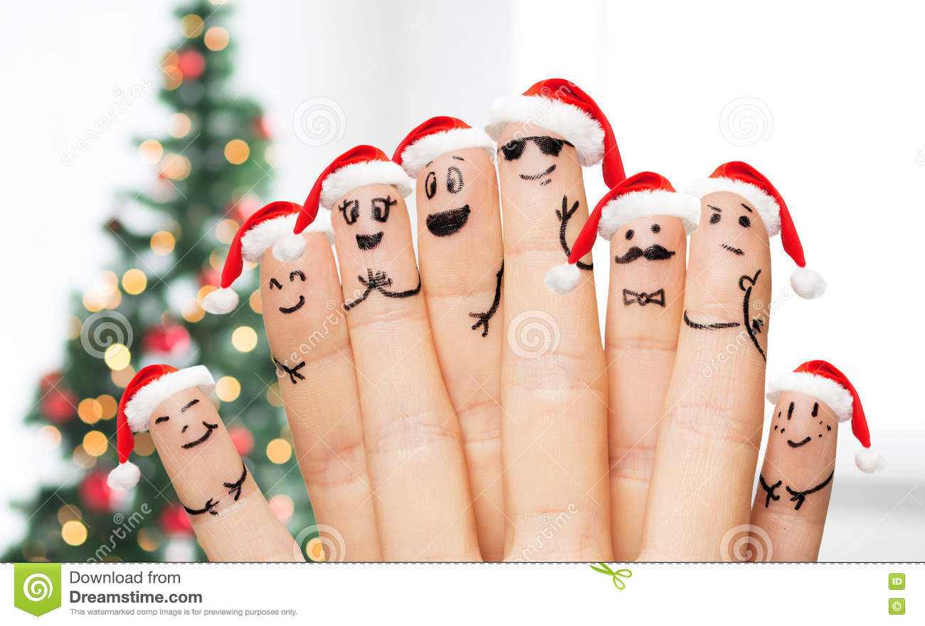 Close Up Of Hands And Fingers With Smiley Faces Stock Image - Image ...